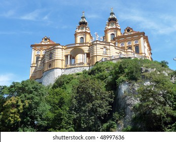 Melk abbey, a famous benedictine monastery in Austria