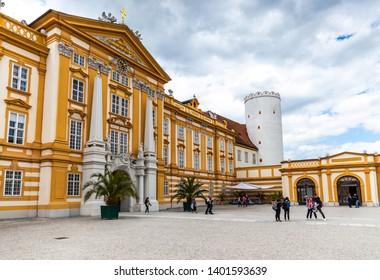 Melk, Austria; 17/05/2019: a view of Melk Abbey (Stift Melk)