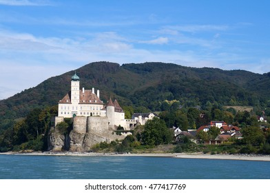Melk, Austria - October 3, 2015: Schonbuhel Castle, part of UNESCO World Heritage site of Wachau Valley along Danube river on October 3, 2015.