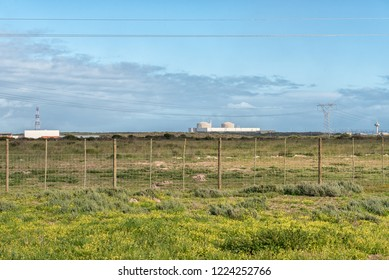MELKBOSSTRAND, SOUTH AFRICA, AUGUST 19, 2018: A view of the Koeberg Nuclear Power Station at Melkbosstrand in the Western Cape Province