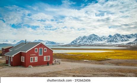 Mellageret Caf�©, Ny Alesund, Svalbard Islands
