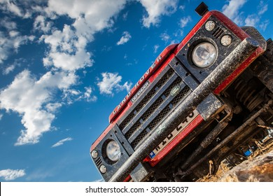 MELLIEHA, MALTA - OCTOBER 5, 2014: The iconic and legendary Land Rover Defender was issued in 1983 and sadly goes out of production in December 2015.