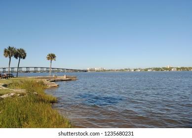 Mellow day at the Park, Rockefeller Park, Halifax River, FL, USA