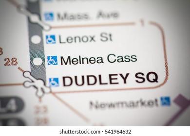 Melnea Cass Station. Boston Metro map.