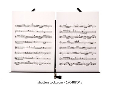 Melody sheets isolated in white