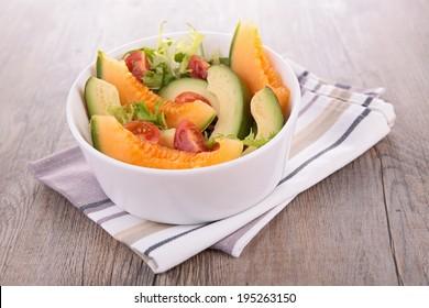 melon and avocado salad