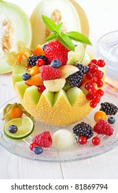 Melon with fruit