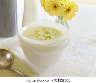 Melon Gazpacho soup