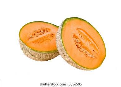 Melon on the white background