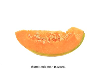 melon slice isolated on white