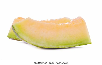 Melon slices Isolated on White Background.