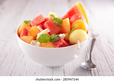 melon,watermelon and cheese
