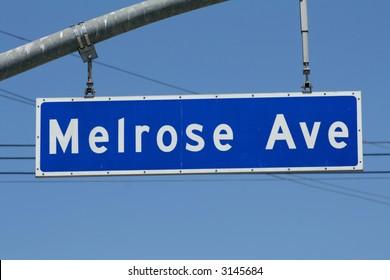 Melrose Avenue Sign