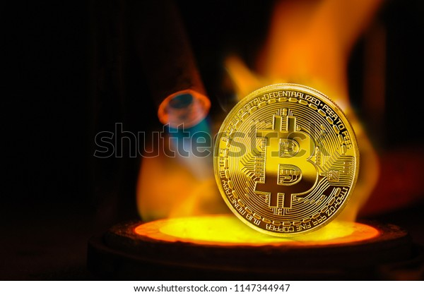 melted bitcoin money