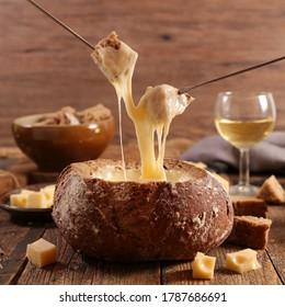 fromage fondu et fromage fondu à base de pain