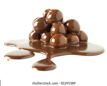 Melted chocolate balls
