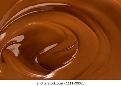 Melting chocolate, close-up