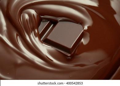Melting chocolate / melted chocolate/ chocolate swirl