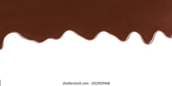Melting Chocolate On White Background