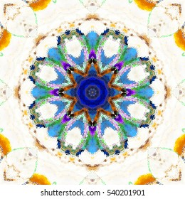 Melting colorful kaleidoscopic pattern for textile, ceramic tiles, wallpapers and design