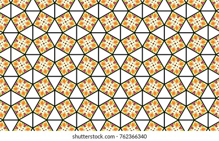 Melting colorful symmetrical pattern for textile, ceramic tiles, wallpapers and design