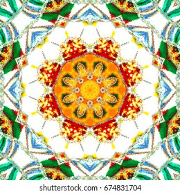 Melting colorful symmetrical square pattern for textile, ceramic tiles and design