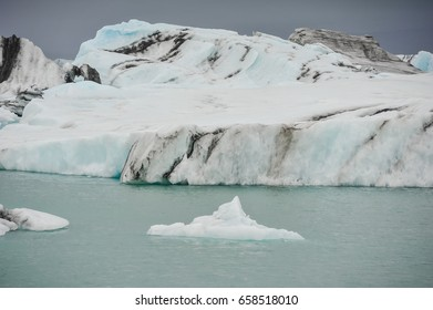 Melting of the glacier. global warming
