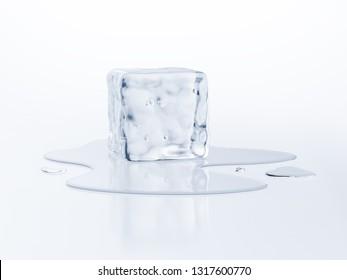 Melting ice cube