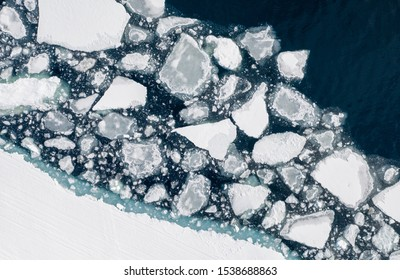 Melting ice near Sirmilik National Park on Bylot Island. Pond Inlet, Nunavut, Canada