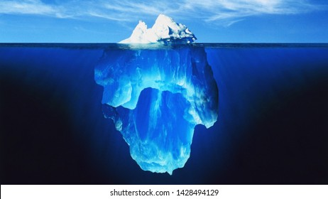 melting iceberg, Huge and big iceberg in processing of melting , is definitely evidence of this global climate change