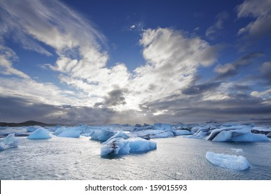 Melting icebergs at Jokulsarlon lagoon, Iceland