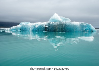 Melting icebergs as a result of global warming and climate change floating in Jokulsarlon glacial lagoon. Vatnajokull National Park, Iceland