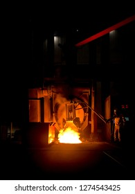 Melting iron in a furnace