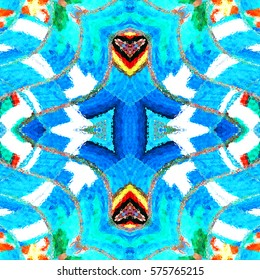 Melting square colorful kaleidoscopic pattern for textile, ceramic tiles, wallpapers and design. Aspect ratio 1:1
