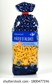 MELUN - FRANCE - AUGUST 2020: picture of carrefour's pasta