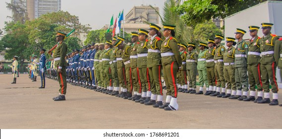 Members of the Nigerian Armed Forces at the 2020 Armed Forces Remembrance Day in Lagos Nigeria, January 15, 2020.