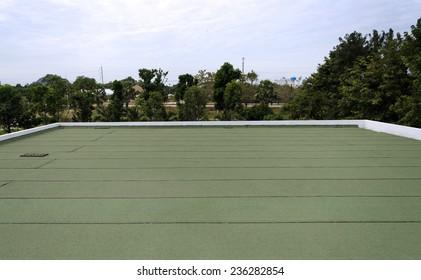 Membrane waterproofing, insulation concrete slab.