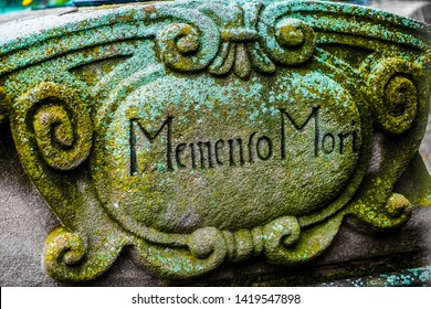 Memento mori inscription.  image at a gravesite. graveyard (Memento Mori)