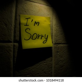 Memo about sorry