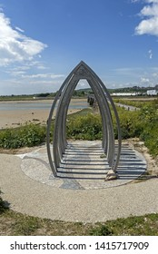 The memorial to the 11 men who were tragically killed in the Shoreham Air Disaster in West Sussex UK on 22nd August 2015 when a Hunter fighter jet crashed during the public display