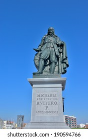 Memorial of 17th century admiral in Netherlands Michiel de Ruyter in his city Vlissingen designed by sculptor Louis Roijer in 1841