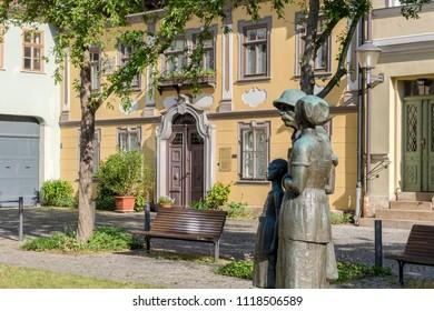 Memorial to Albert Schweitzer in Weimar in Germany