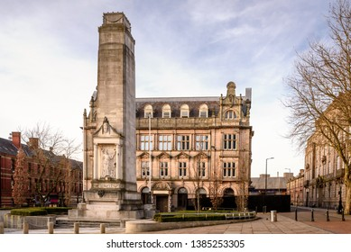 Memorial cenotaph in Preston City Centre in Lancashire North West England