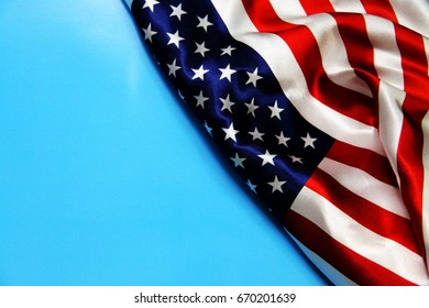 Memorial day. American flag background