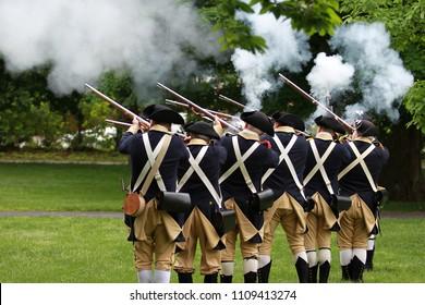 Memorial Day Ceremony in Lexington, Massachusetts, USA
