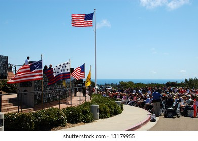 Memorial Day service; Mount Soledad Memorial; San Diego, California