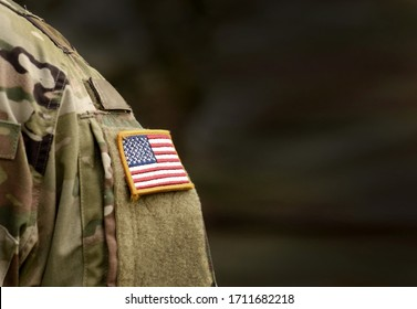 Memorial day. Veterans Day. US soldier. US Army. The United States Armed Forces. Military forces of the United States of America. Empty space for text - Shutterstock ID 1711682218