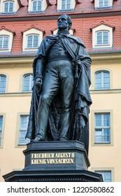 Memorial for Frederick Augustus II of Saxony at the Neumarkt in Dresden, built 1867 by Ernst Haehnel