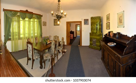 Memorial house of writer Mihail Sadoveanu from Vanatori Neamt County - Romania. May.01.2016