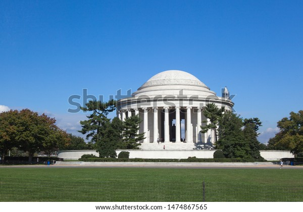 Memorial Jefferson Washington DC in USA. The Jefferson Memorial is a presidential memorial built in Washington, D.C.
